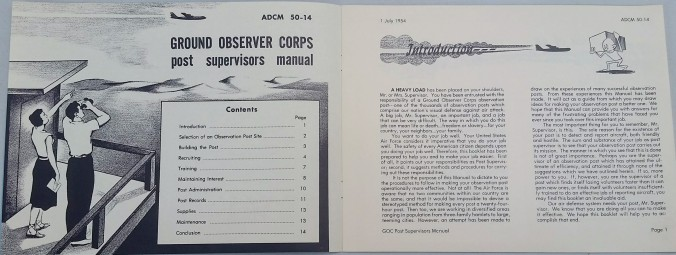 Ground Observer Corps Post Supervisors Manual Interior
